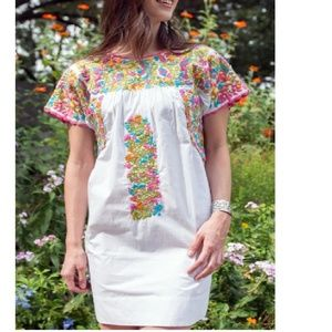 Sister Mary Embroidered Mexican Dress